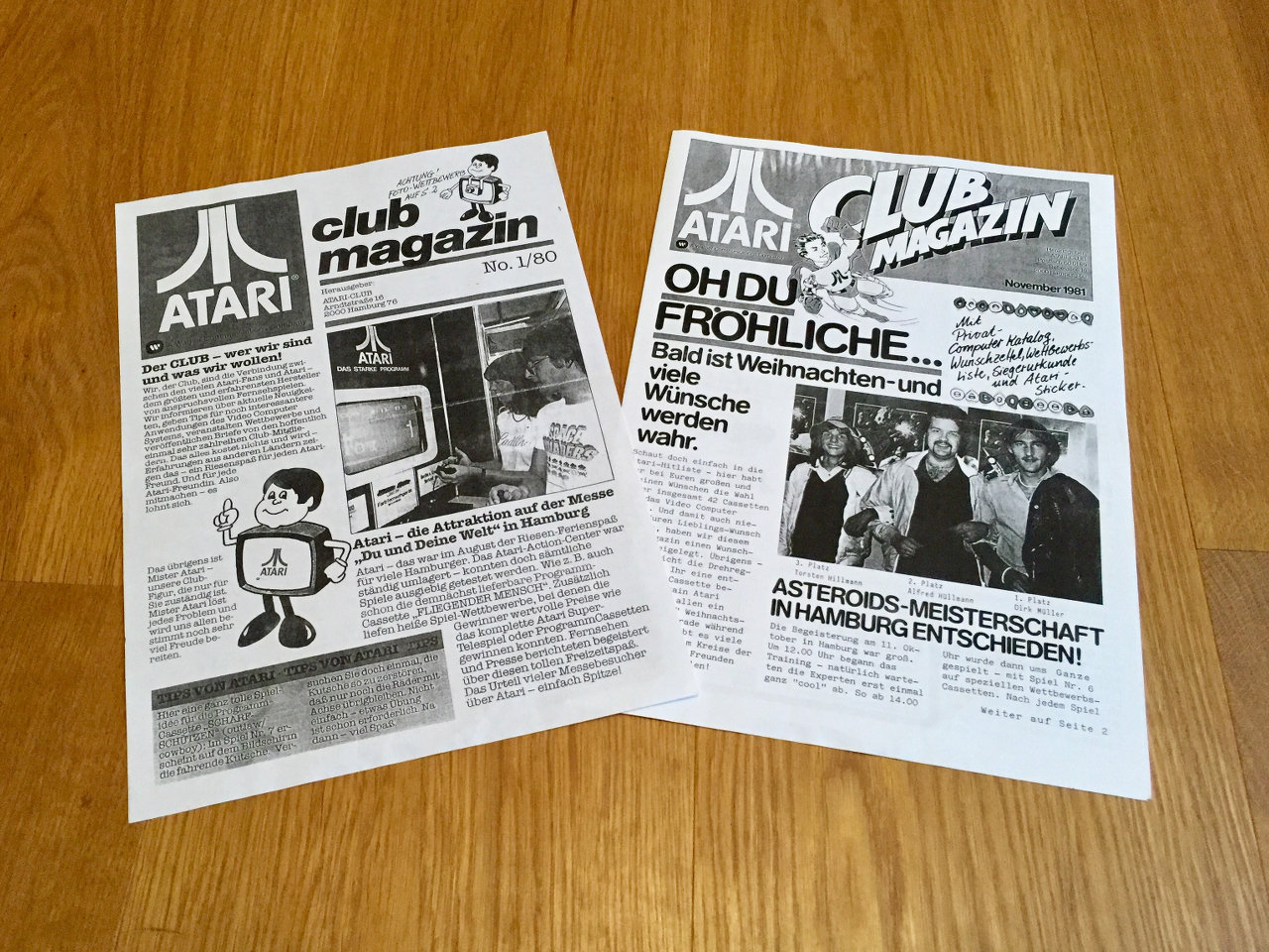 Das Atari Club Magazin erschien 1980. (Bild: André Eymann)