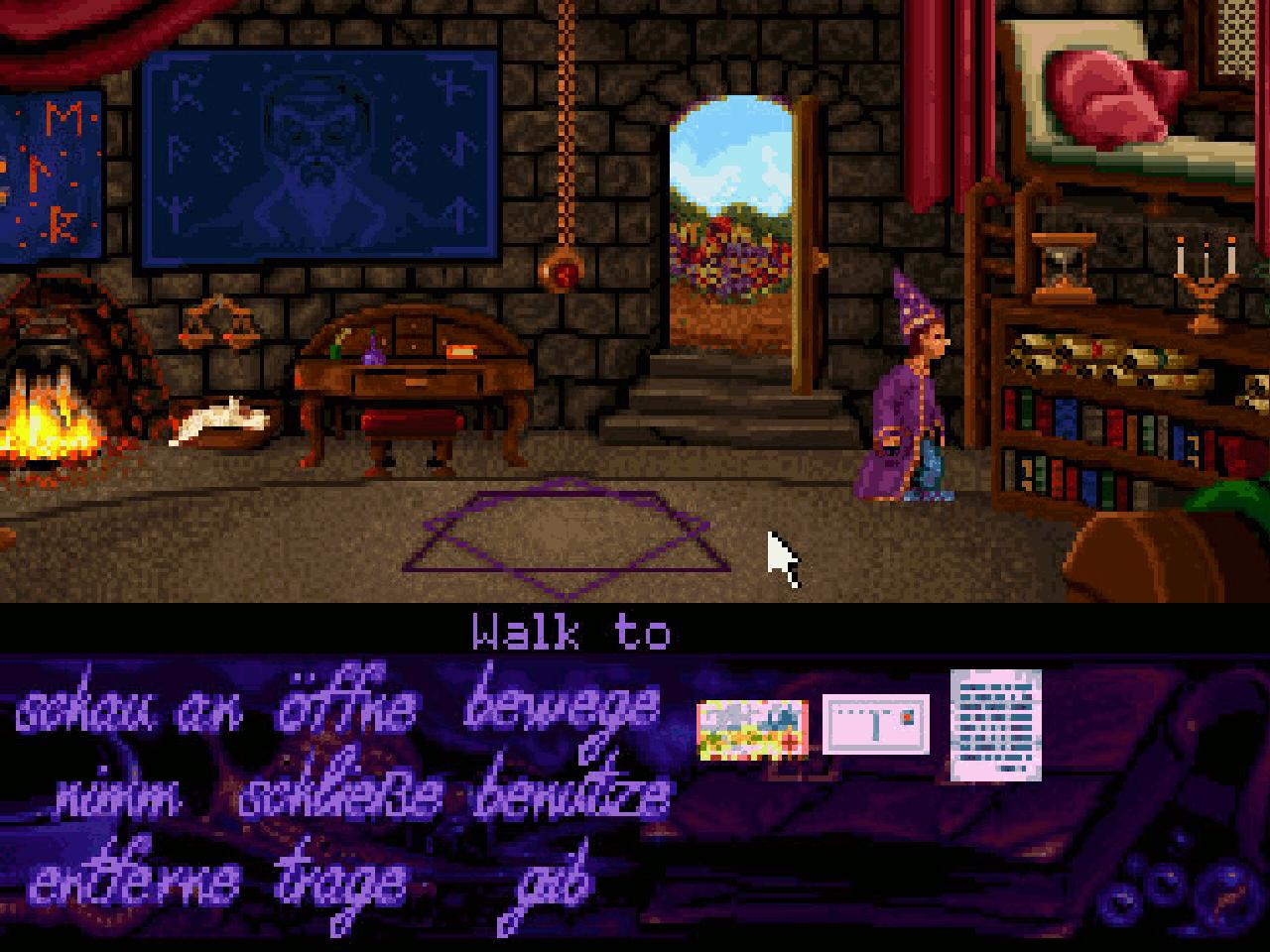 Die ersten Schritte im Abenteuerspiel Simon the Sorcerer. (Bild: Andre Eymann)