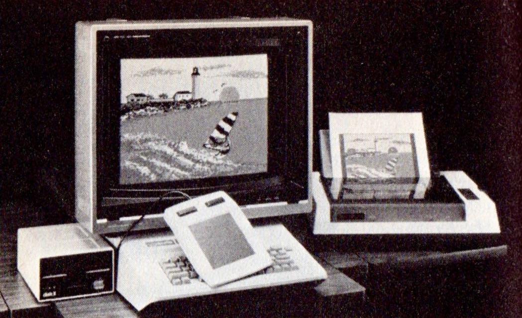 Computerkunst in den 1980er-Jahren: mit dem KoalaPad und KoalaPainter wurden Grafikträume wahr. (Bild: Heyne Verlag)