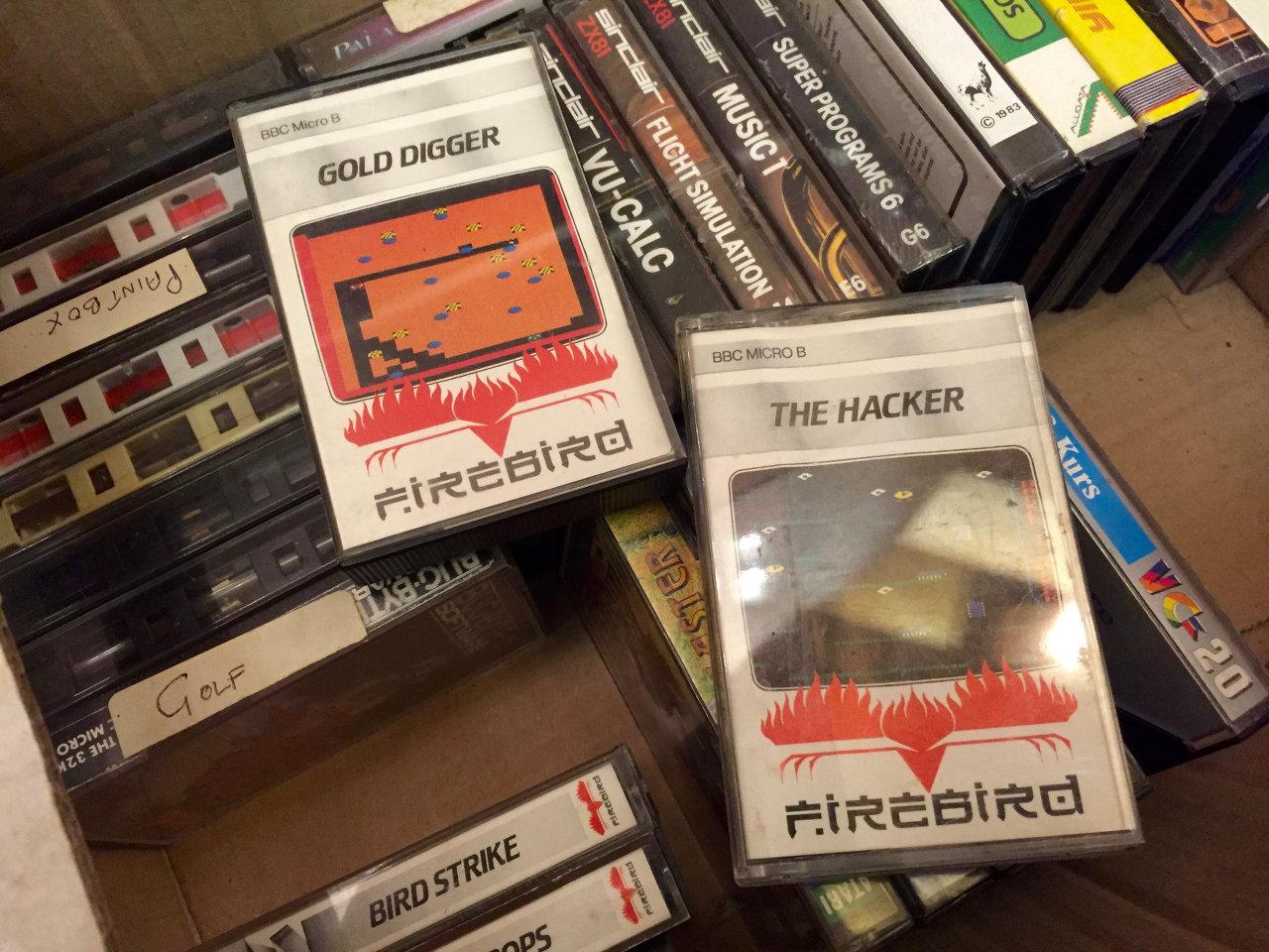 Rare BBC Micro B Spielkassetten von Firebird. (Bild: André Eymann)