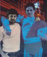TRON Regisseur Steven Lisberger mit Hauptdarsteller Jeff Bridges. (Bild: Walt Disney Company)