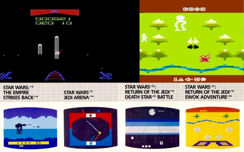 From Star Wars to Jedi: Parker Bros. deckte lange vor Atari und Domark die damals komplette Krieg der Sterne Saga ab. Die Spieledesigner waren sichtlich um ein immer anderes Spielprinzip bemüht, während die lieben Kollegen von Ocean auf weitaus leistungsstärkeren Plattformen Spieler regelmäßig durch dieselben Lagerhäuser jagte, egal ob Batman, Hudson Hawk oder Robocop.