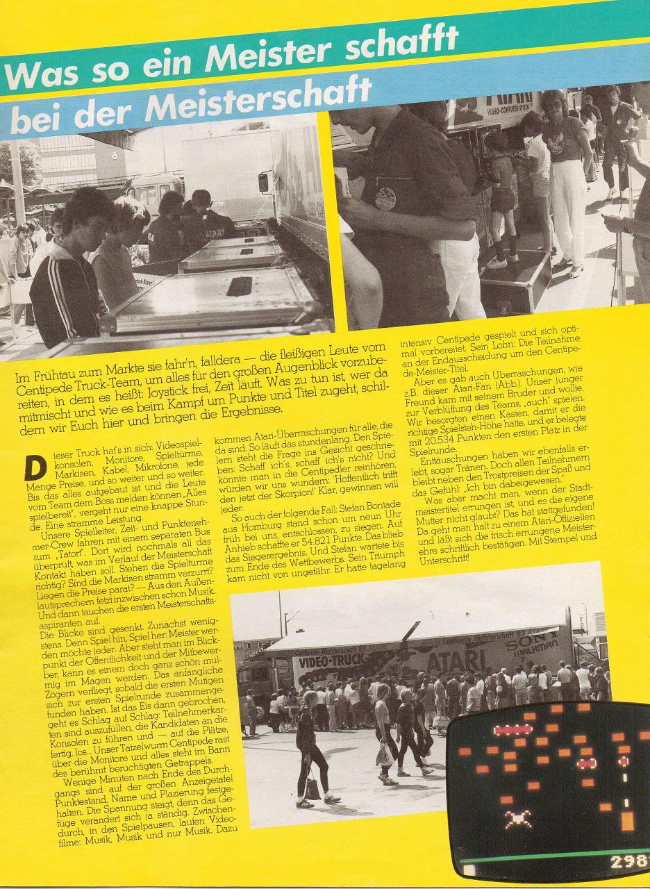 Die Sonderausgabe vom Atari Club Magazin zur Centipede WM. (Bild: Atari)