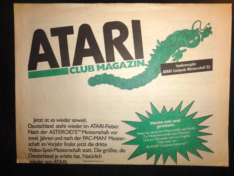 Die Sonderausgabe vom Atari Club Magazin zur Centipede WM. (Bild: Guido Frank)