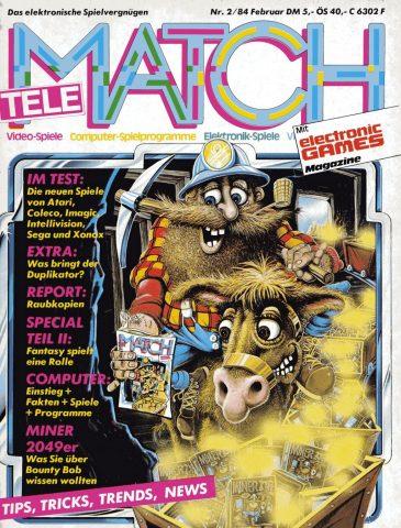 Was Sie über Bounty Bob wissen sollten. Das Titelbild der Ausgabe vom Februar 1984. (Bild: M. Cavendish)