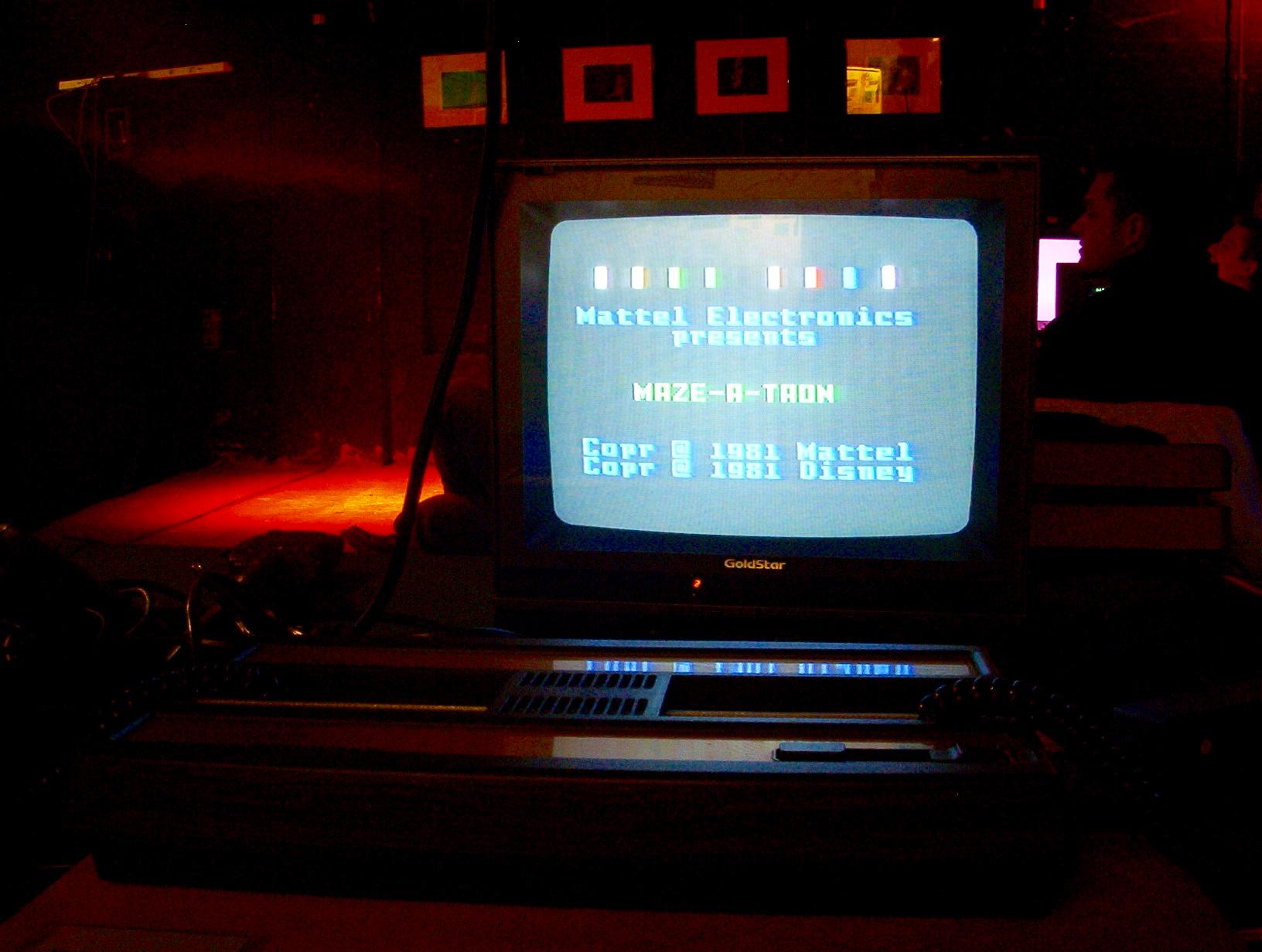 """Das Spiel """"Maze-A-Tron"""" auf einem Intellivision-System. (Bild: André Eymann)"""