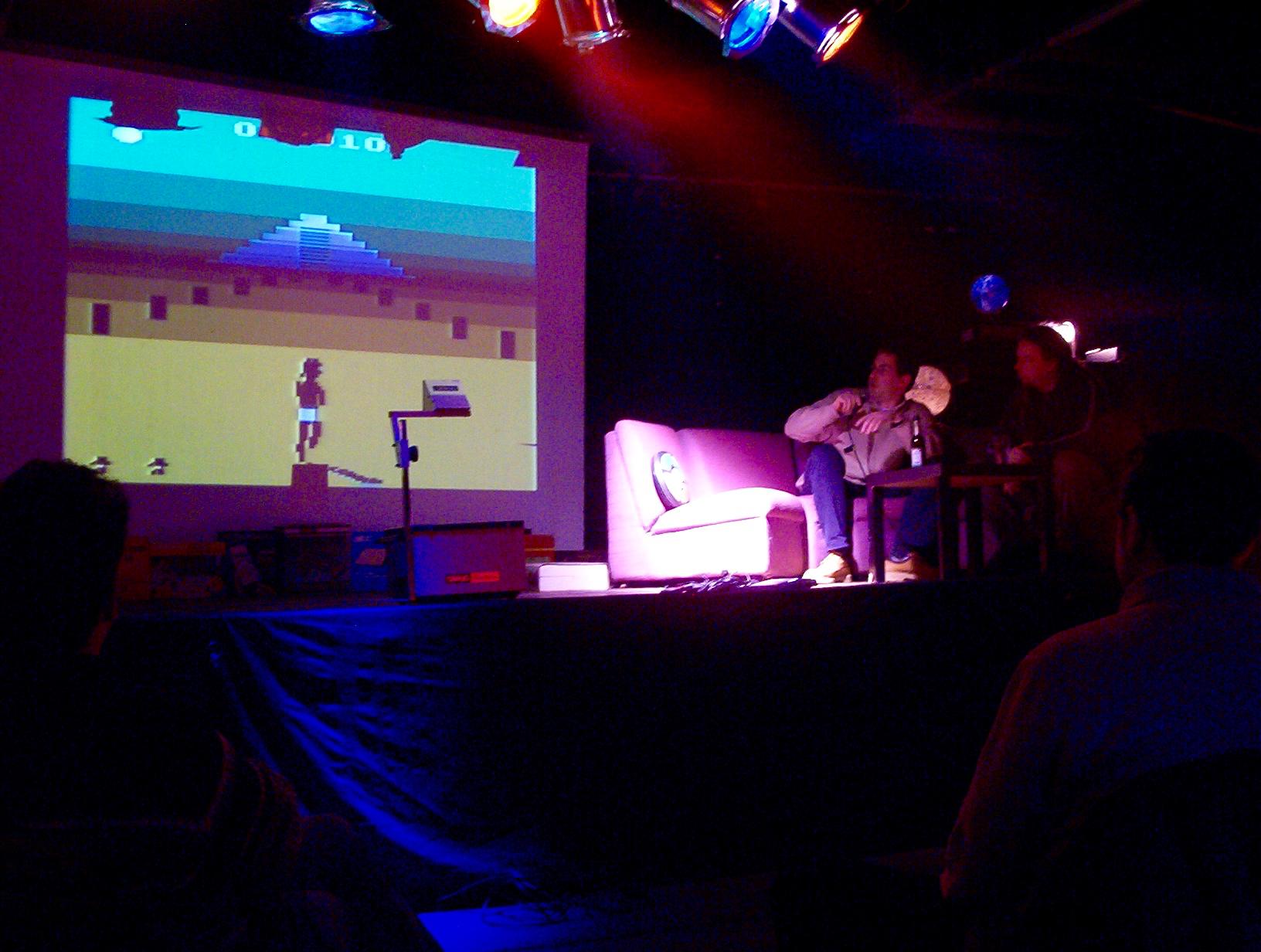 """Das Spiel """"A-VCS-tec Challenge"""" für Ataris VCS stammt ebenfalls von Simon Quernhorst. (Bild: André Eymann)"""