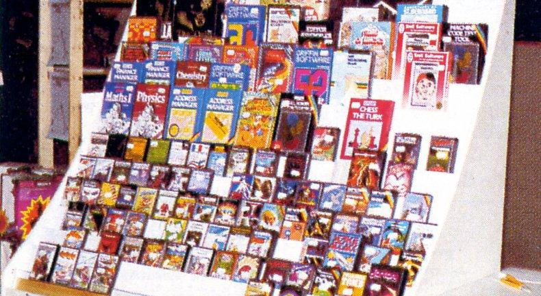 Ein Stand mit Fachbüchern auf der 10. Sinclair ZX-Microfair-Messe. (Bild: Vogel-Verlag)