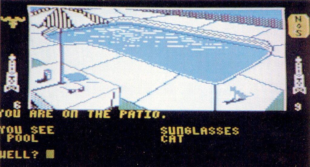 Das C64-Spiel The Dallas Quest von Datasoft verlängert den TV-Erfolg der Ewings in die Heimcomputerwelt. (Bild: Vogel-Verlag)