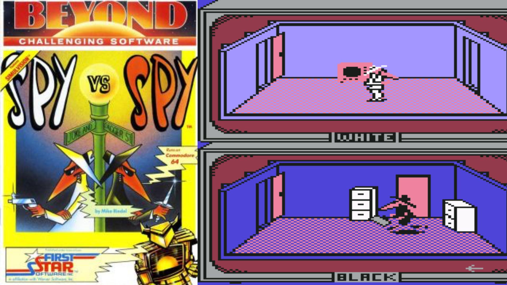 Ungemein fesselnd: Mit einem C64 konnte man tatsächlich Antonio Prohias Spione aus den MAD Magazinen steuern. Da blieb das Schulheft im Halfter stecken. (Bild: Beyond)