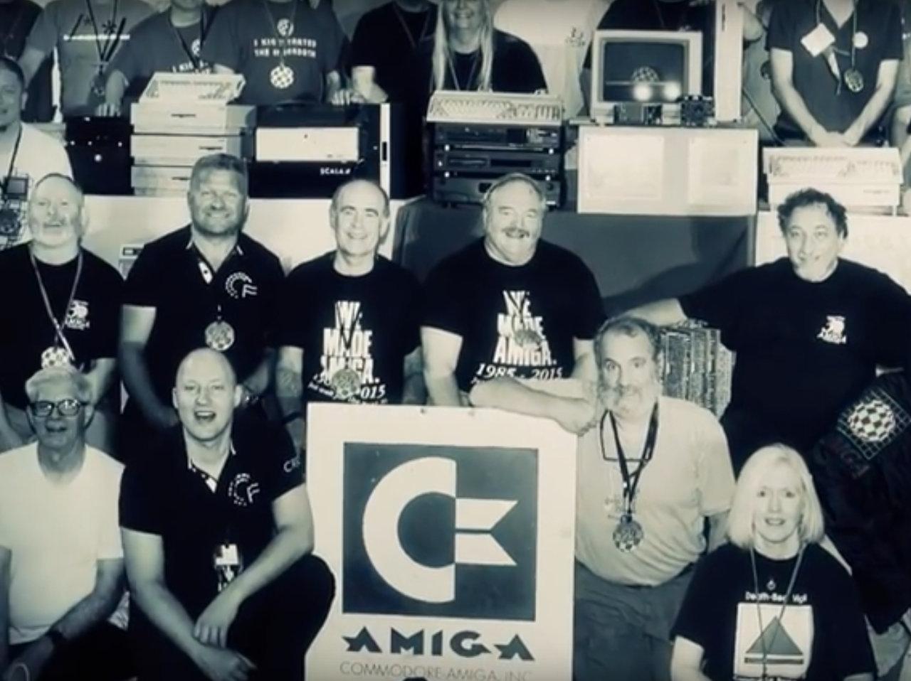 Das Amiga-Entwicklungsteam. (Bild: youtube.com)
