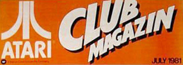 Das Logo des Atari Club Magazins aus dem Juli 1981. (Bild: Atari)
