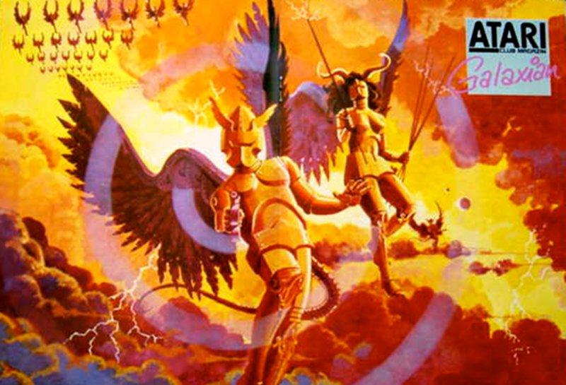 Das Spielmodul Galaxian war die Umsetzung des gleichnamigen Spielhallenklassikers von Namco. Als Vorläufer des späteren Galaga war es ein großer Hit auf dem Atari VCS. (Bild: Atari)