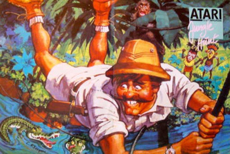 Jungle Hunt ist sicher den meisten Lesern ein Begriff. Bei dieser genialen Kombination von Action und Adventure, ging es darum alle erdenklichen Gefahren im Jungle zu überstehen. (Bild: Atari)