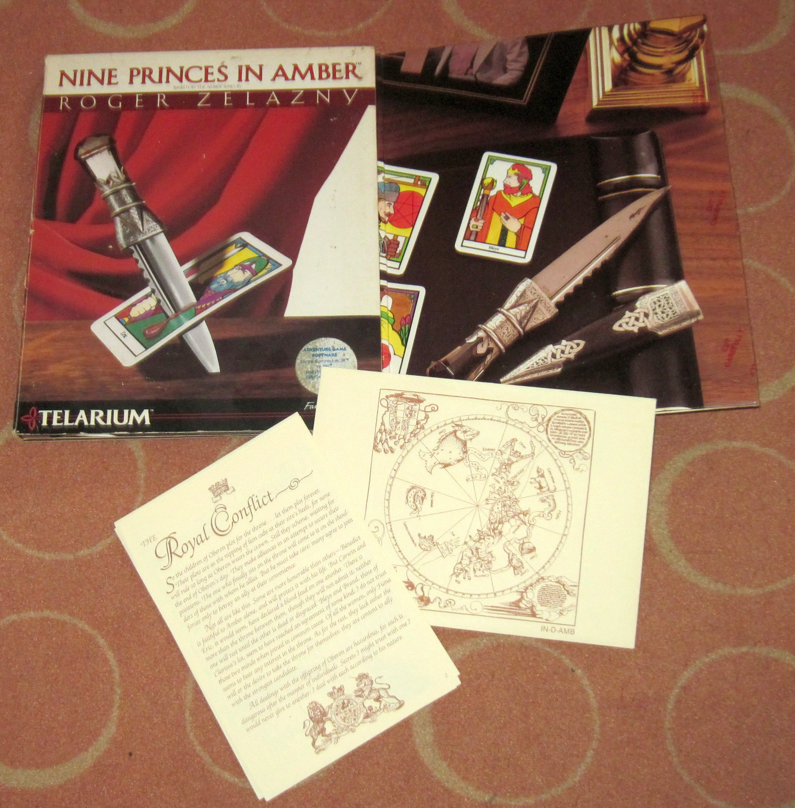 Nicht nur aus damaliger Sicht waren die Verpackungen von Telarium sehr ansehnlich und mit viel Liebe zum Detail gestaltet. Hier: Nine Princes In Amber. (Bild: Michael Kokemor)