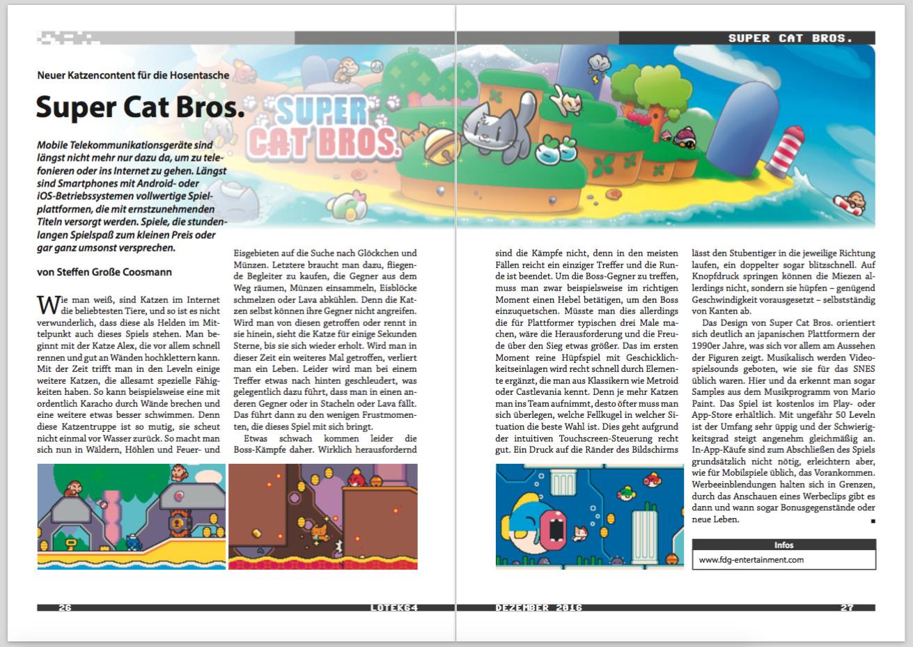 Eine Doppelseite der Lotek64-Ausgabe Dezember 2016. (Bild: André Eymann)