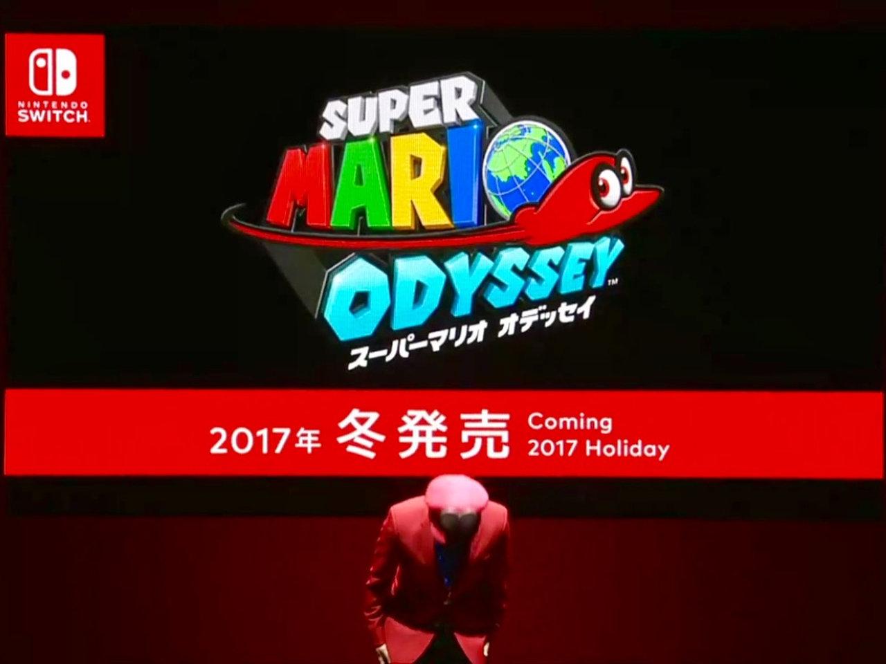 Auf der Nintendo Switch Präsentation wurde das neue Super Mario Odyssey vorgestellt. (Bild: André Eymann)