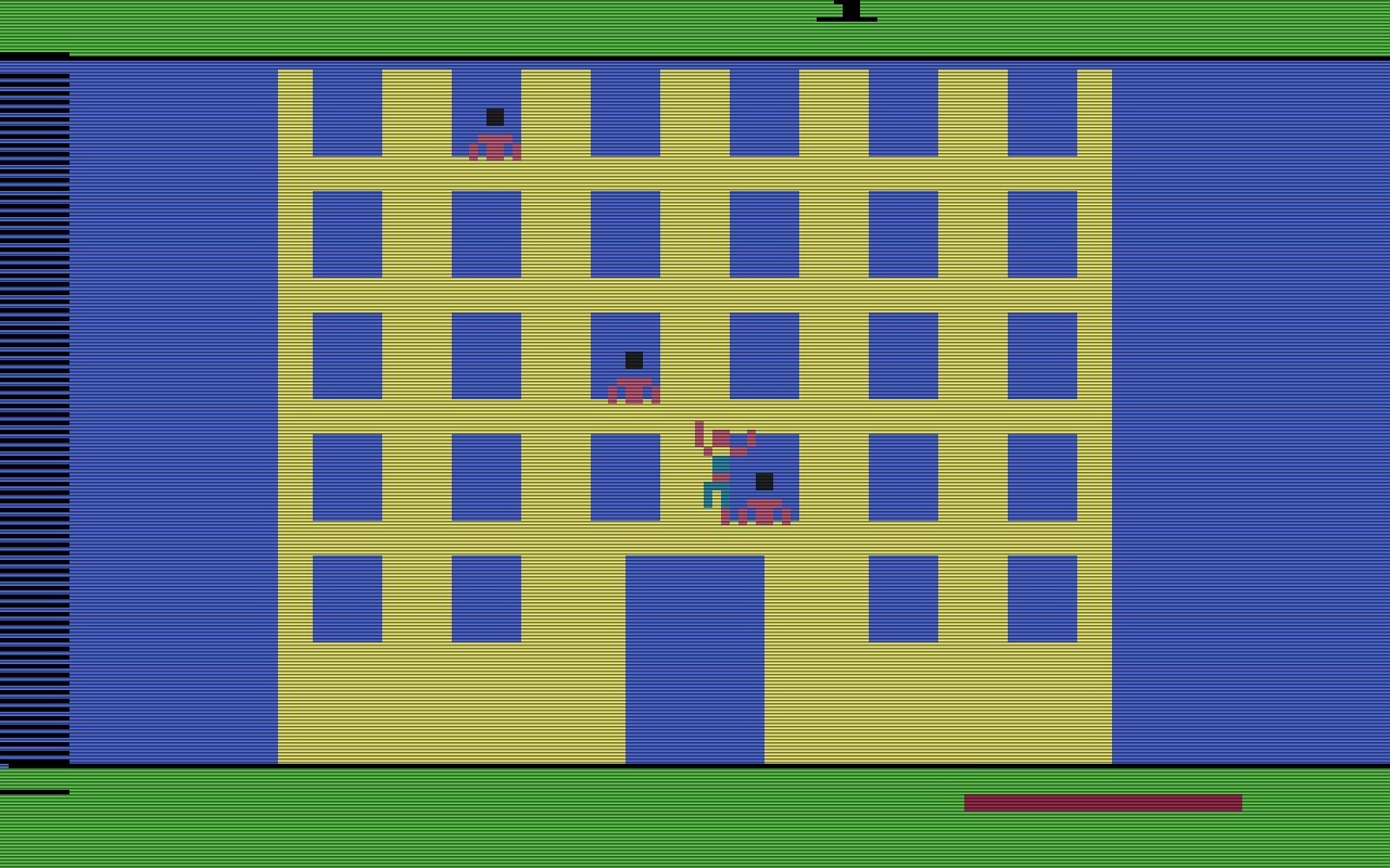Spiderman von Parker Brothers 1982, war ein Kletter- und Bombenentschärfungsspiel, das recht einfach gehalten war. (Bild: Parker Brothers)