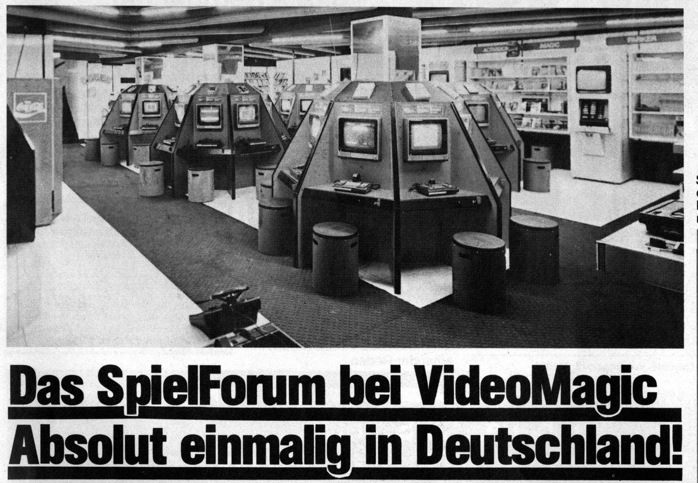 Das Spielforum von Videomagic. Futuristisch und platzsparend zugleich. (Bild: Marshall Cavendish)