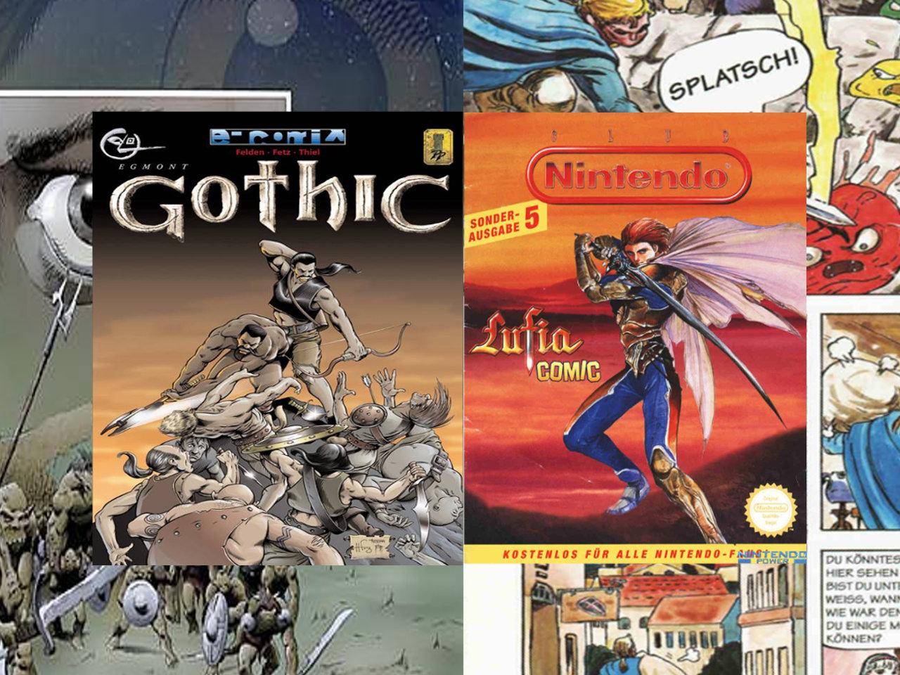 Wenn Comics auf Videospiele treffen. Gothic und Lufia. (Bild: Christian Kuhrmann)