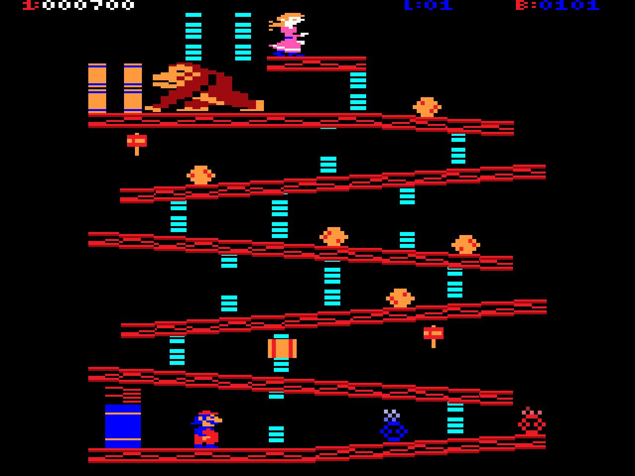 Donkey Kong auf der Atari 2600. Platz 10 der schlechtesten Arcade-Portierungen für Heimkonsolen?! Na und? Spaß hat´s trotzdem gemacht! (Bild: Nintendo)