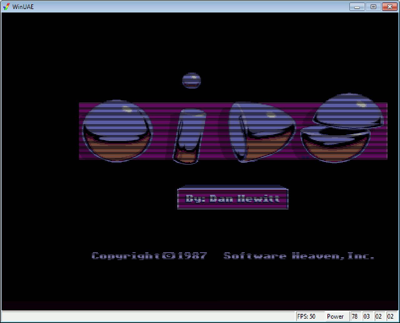 Lange hat es gedauert. 27 lange Jahre! Oids auf dem Amiga; endlich! Hier zu sehen auf dem WinUAE-Emulator. Ich wollte es allein schon deshalb unbedingt haben, weil es von FTL war; den genialen Schöpfern von Dungeon Master (ebenfalls aus 1987) und dem Nachfolger Chaos Strikes Back. (Bild: Ferdinand Müller)