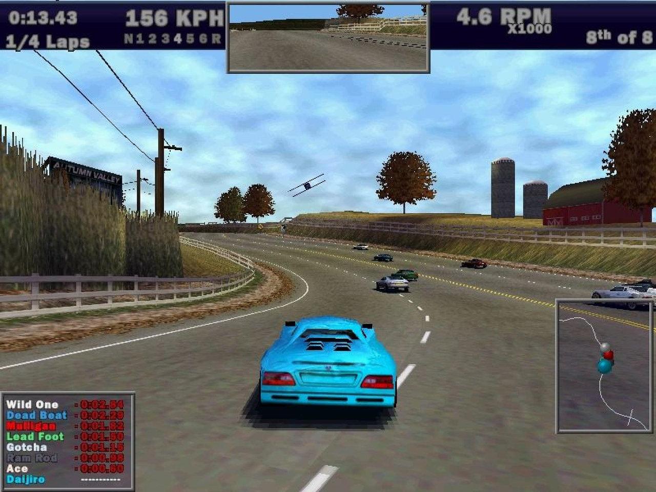 Need for Speed 3: Mit 8 menschlichen Spielern gleichzeitig im selben Raum ging die Post ab. (Bild: Electronic Arts)