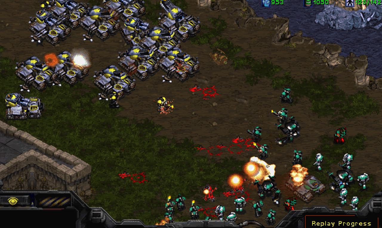 Grafisch fand ich es gewöhnungsbedürftig. Spielmechanik und Balance der Völker waren aber Top. Starcraft spielt aber gerade im LAN-Netzwerk seine Stärken aus und ist prädestiniert für Mehrspieler-Saissons. (Bild: Blizzard)