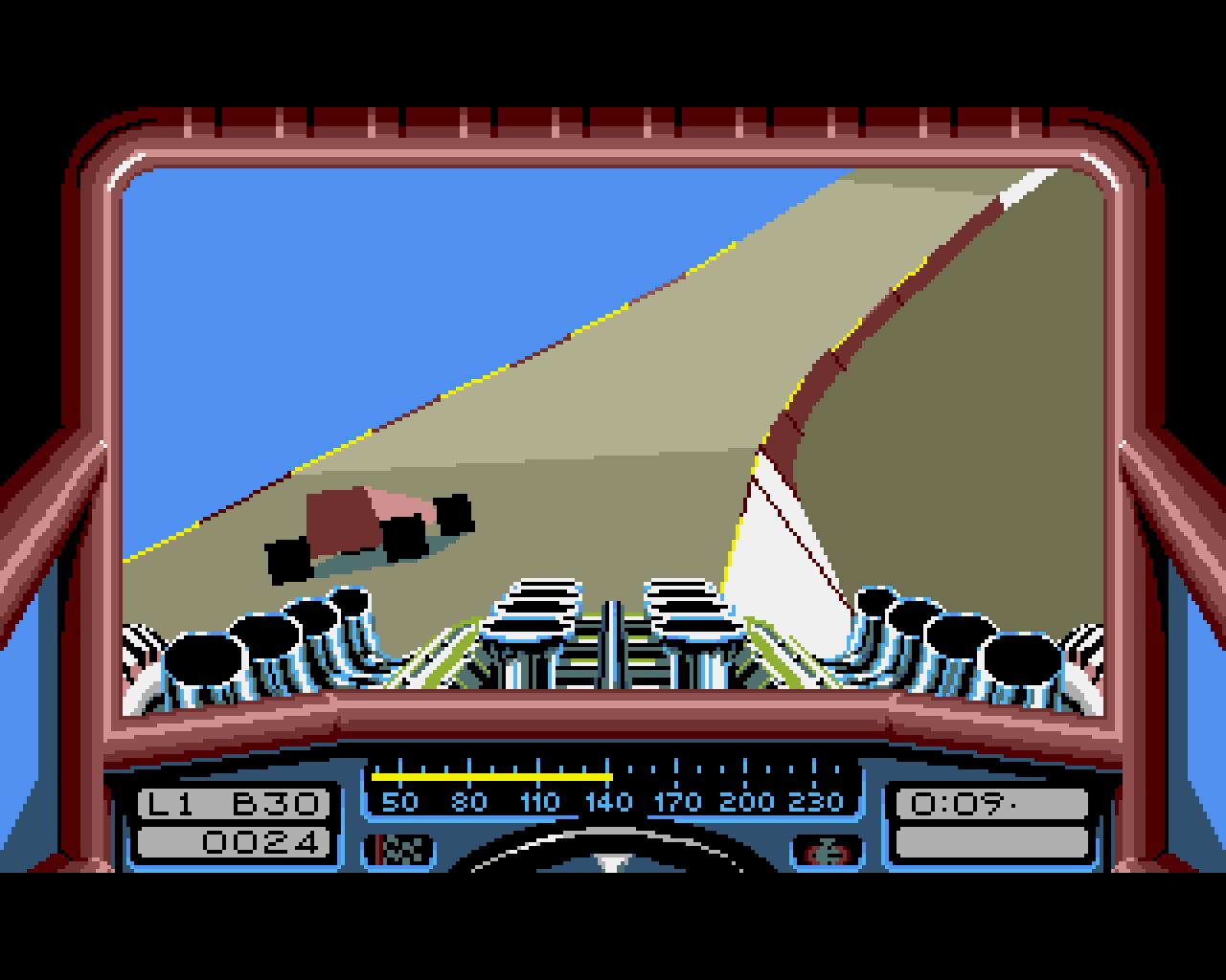 Für mich das Beste Spiel auf dem Amiga. Noch mehr Spaß machte ein Kopf an Kopf Rennen mit zwei Amigas, die über Nullmodem-Kabel miteinander verbunden waren. Ein unglaublich intensives Spiel-Erlebnis. (Bild: MicroStyle)
