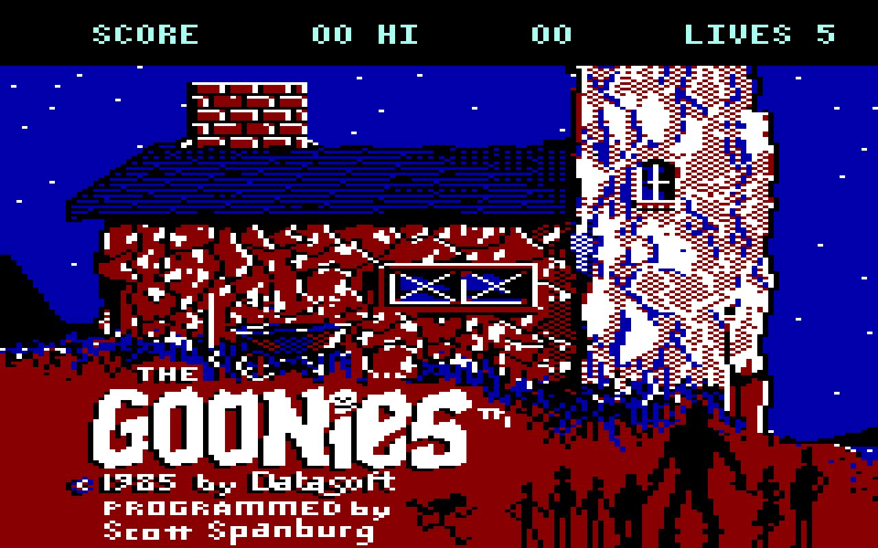 The Goonies gehörte nicht zu meinen Lieblingsspielen. (Bild: Datasoft)