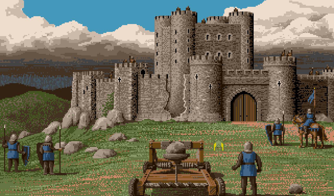 Defender of the Crown war eines der am aufwendigsten gestalteten Strategie-Computerspiele der Heimcomputer-Ära. Schauplatz der Handlung des Spiels ist das mittelalterliche England. (Bild: Cinemaware)