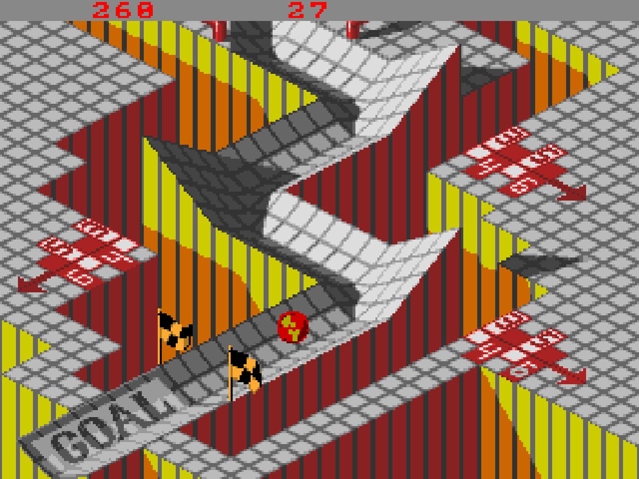 Oben ist die Amiga-Version und unten die des Arcade-Automaten zu sehen. (Bild: Atari)