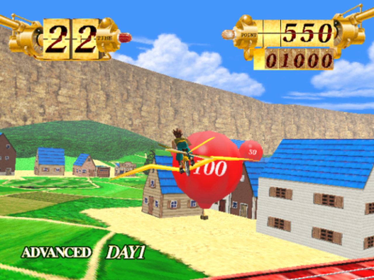 Bei Prop Cycle wurden Ballons zum Platzen gebracht, indem man durch sie hindurch flog. (Bild: Namco)