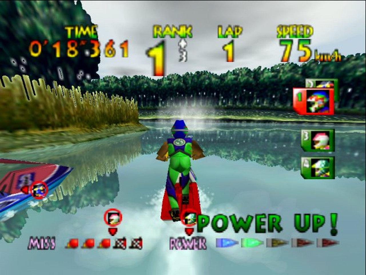 Wenn ich die gelungene Wasserspiegelung sehe (das Spiel stammt immerhin aus 1996) hätte ich große Lust es wieder einmal zu spielen. (BIld: Nintendo)