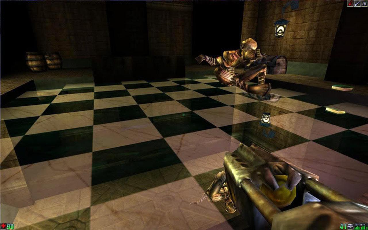 Der gespiegelte Marmorboden mit Schachbrettmuster sah 1998 sehr beeindruckend aus. (Bild: Epic)