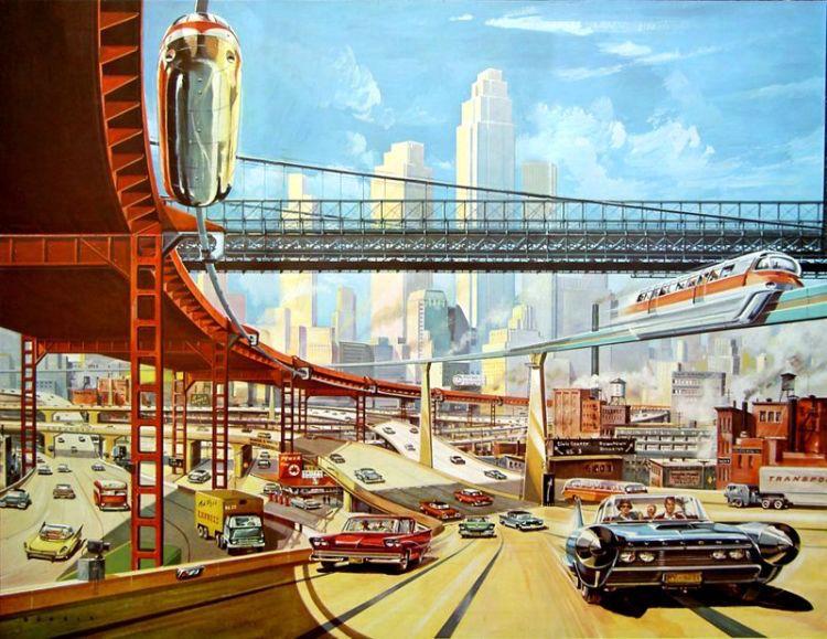 Technologie und Verkehr im Futurismus. (Bild: Pinterest)