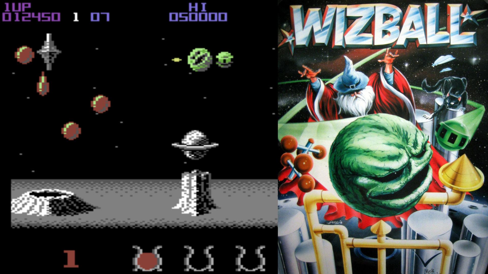 Ausgerechnet Lizenzgigant Ocean Software verzaubert die Spielebranche mit dem charmanten Wizball, die Geschichte von einem Magier und seiner getreuen Katze, die dem grauen Alltag die Farben wiederschenken. (Bild: Andreas Wanda)
