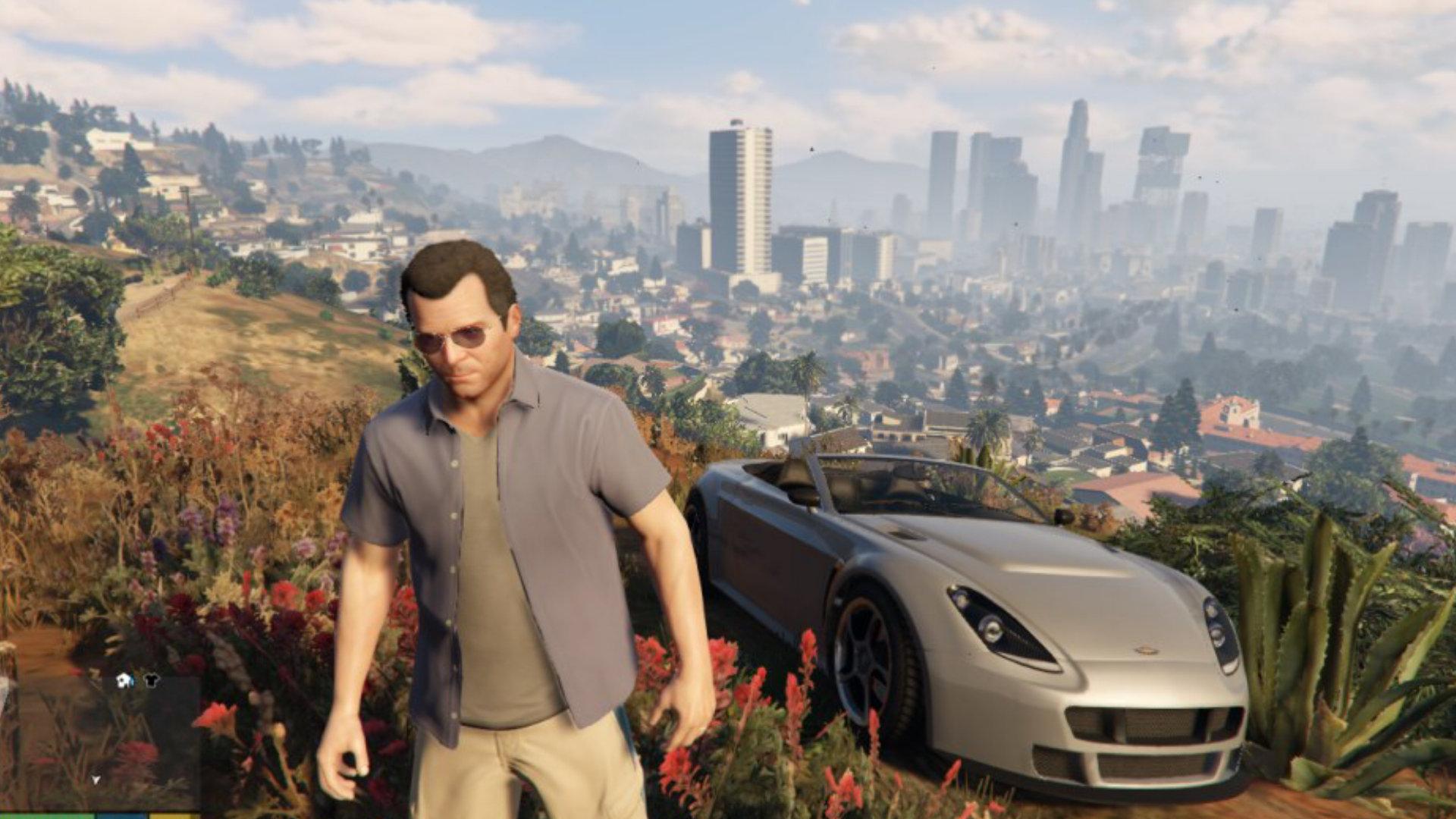 Von Mercenarys Vektorwelt auf dem Weg zum Photorealismus: Grand Theft Auto V gibt zwar eine Handlung vor, überlässt es aber dem Spieler, diese wahrzunehmen oder seinen eigenen Open World-Abenteuern nachzugehen. (Bild: Andreas Wanda)
