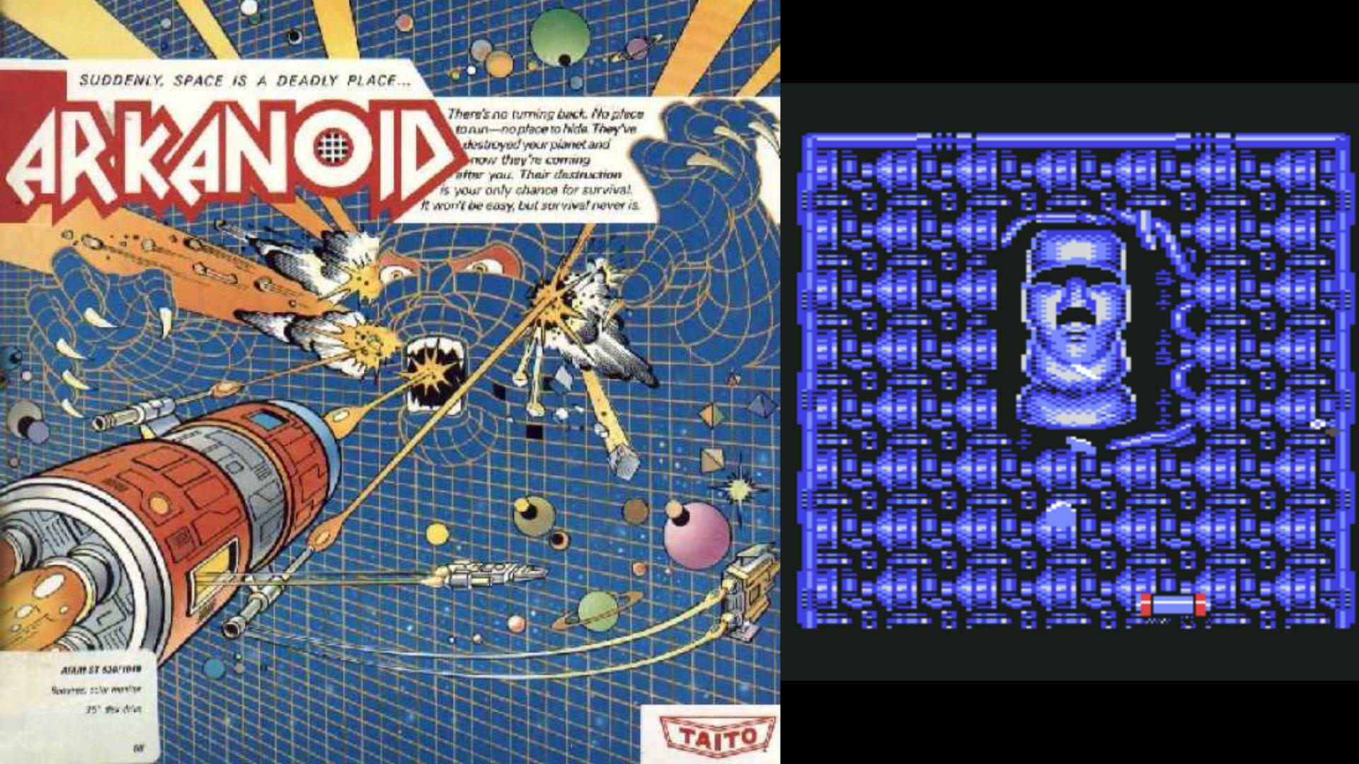 Von wegen Breakout-Clone: Taito erzählt in Arkanoid die mitreissende Geschichte der friedfertigen Rettungskapsel Vauss, deren Besatzung sich dem grimmigen Doh stellt. (Bild: Andreas Wanda)