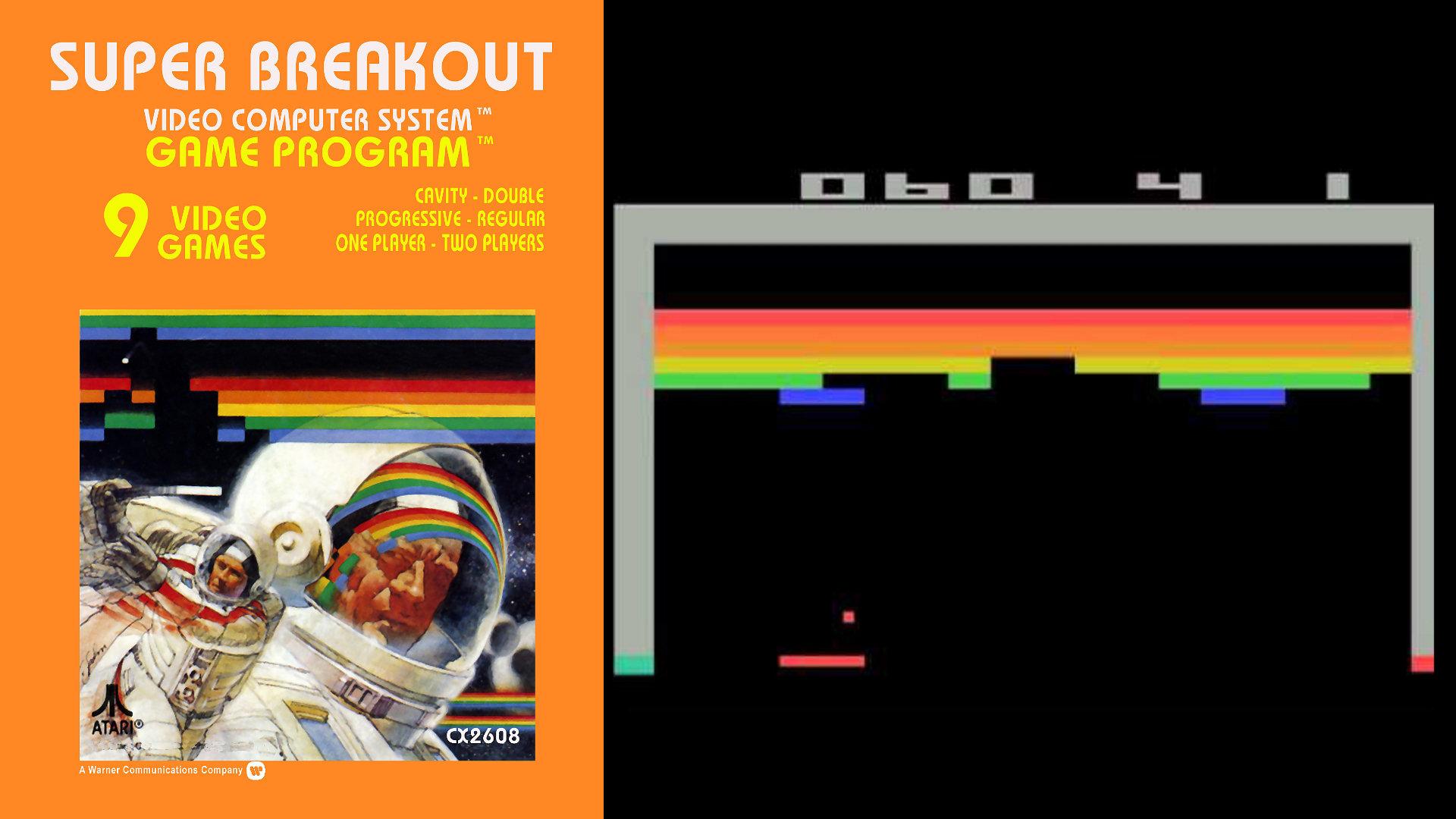 So einfach war die Grafik des 1976 erschienen Breakouts, uninformierte Nicht-Spieler hat große Mühe, in den Pixeln den heldenhaften Astronauten auszumachen, der einer bunten, blockartigen Paralleldimension entkommen will. (Bild: Andreas Wanda)