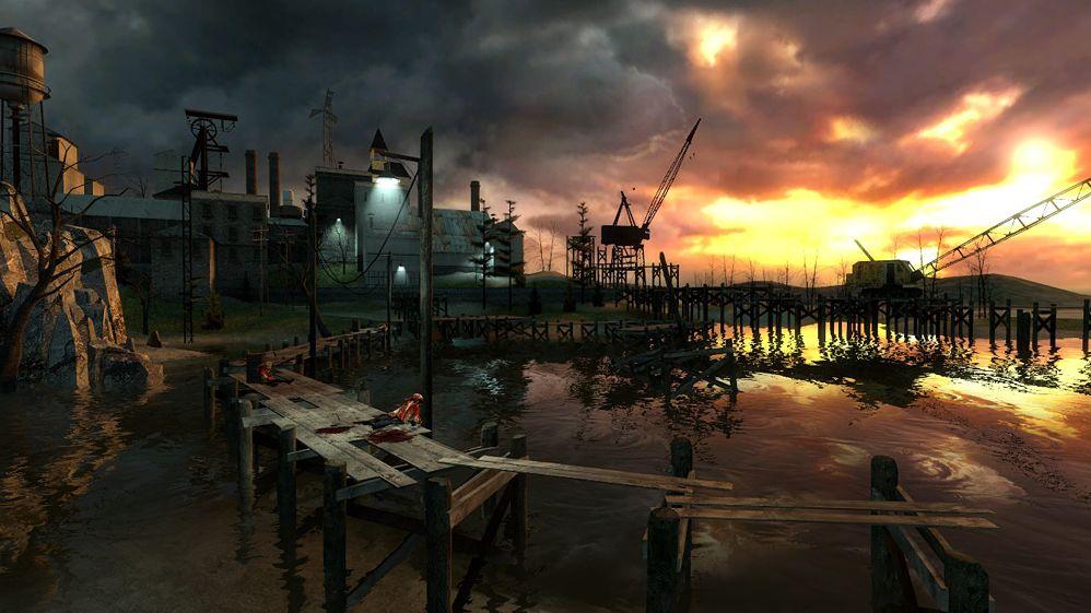Bevor Ravenholm seinen heutigen Namen bekam, hieß die kleine Stadt Traptown. (Bild: E3 Präsentation von Half-Life 2 Beta, 2003)
