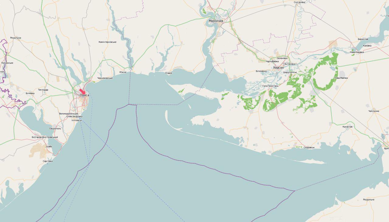 Eine Karte mit der ukrainischen Hafenstadt Odessa. Vorbild für den Highway 17? (Bild: OpenStreetMap)