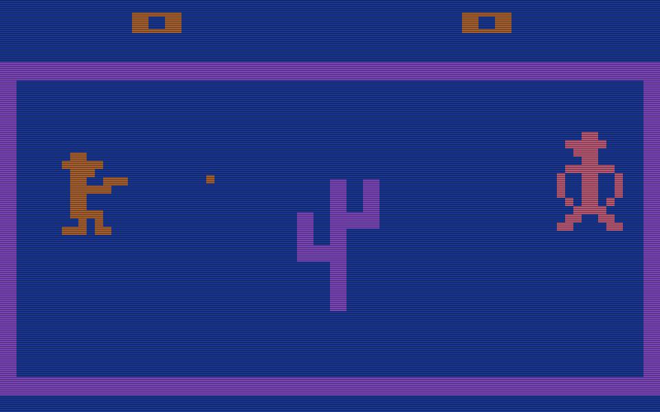 Outlaw für das Atari VCS von 1978: nur einer kann gewinnen. (Bild: Atari)