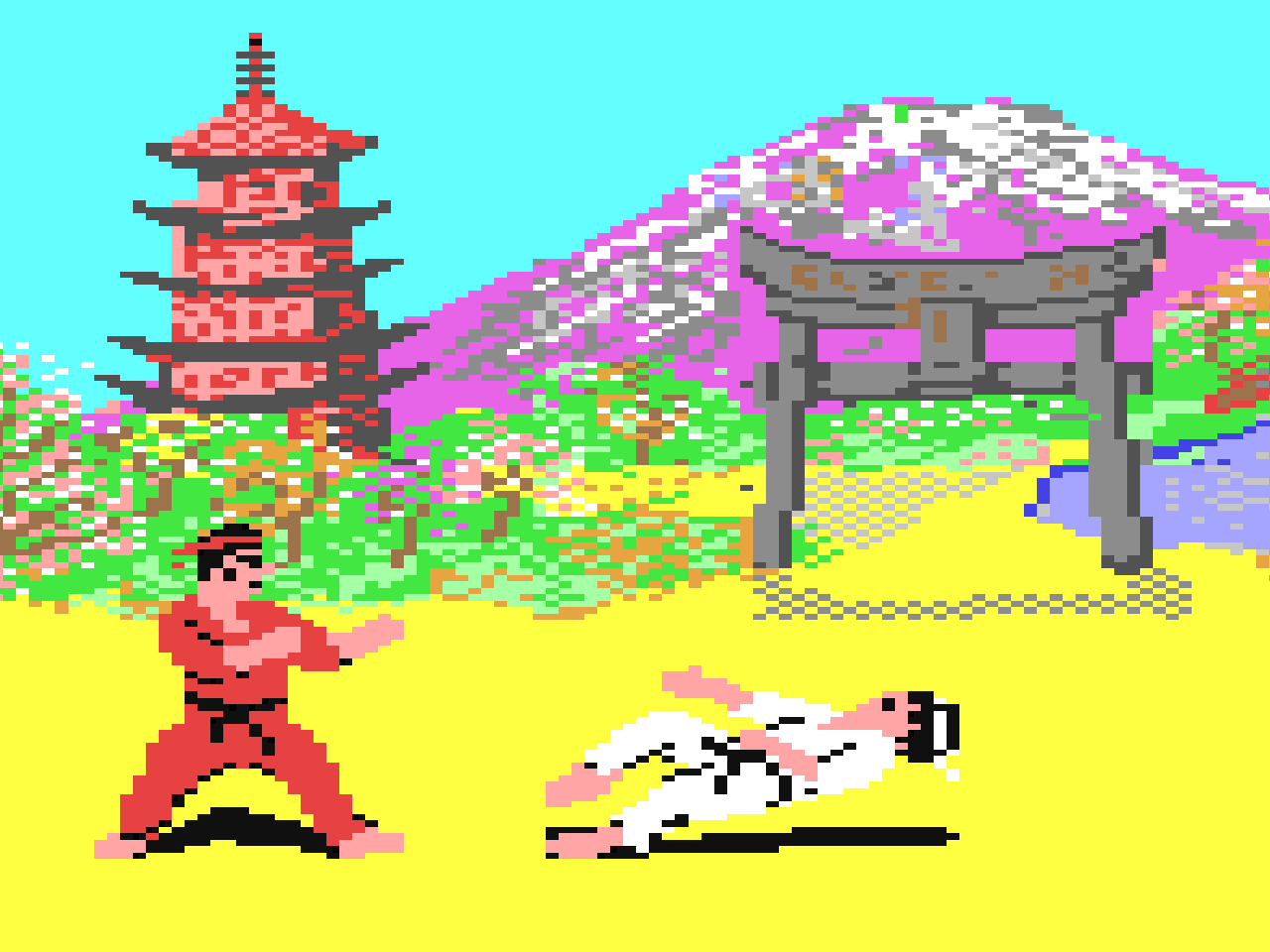 The Way of the Exploding Fist von 1985. (Bild: Beam Software)