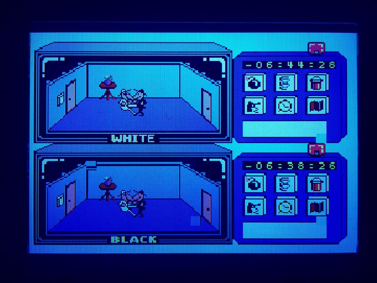 Screenshot von Spy vs Spy auf dem Game Gear mit LCD Mod. (Bild: André Eymann)
