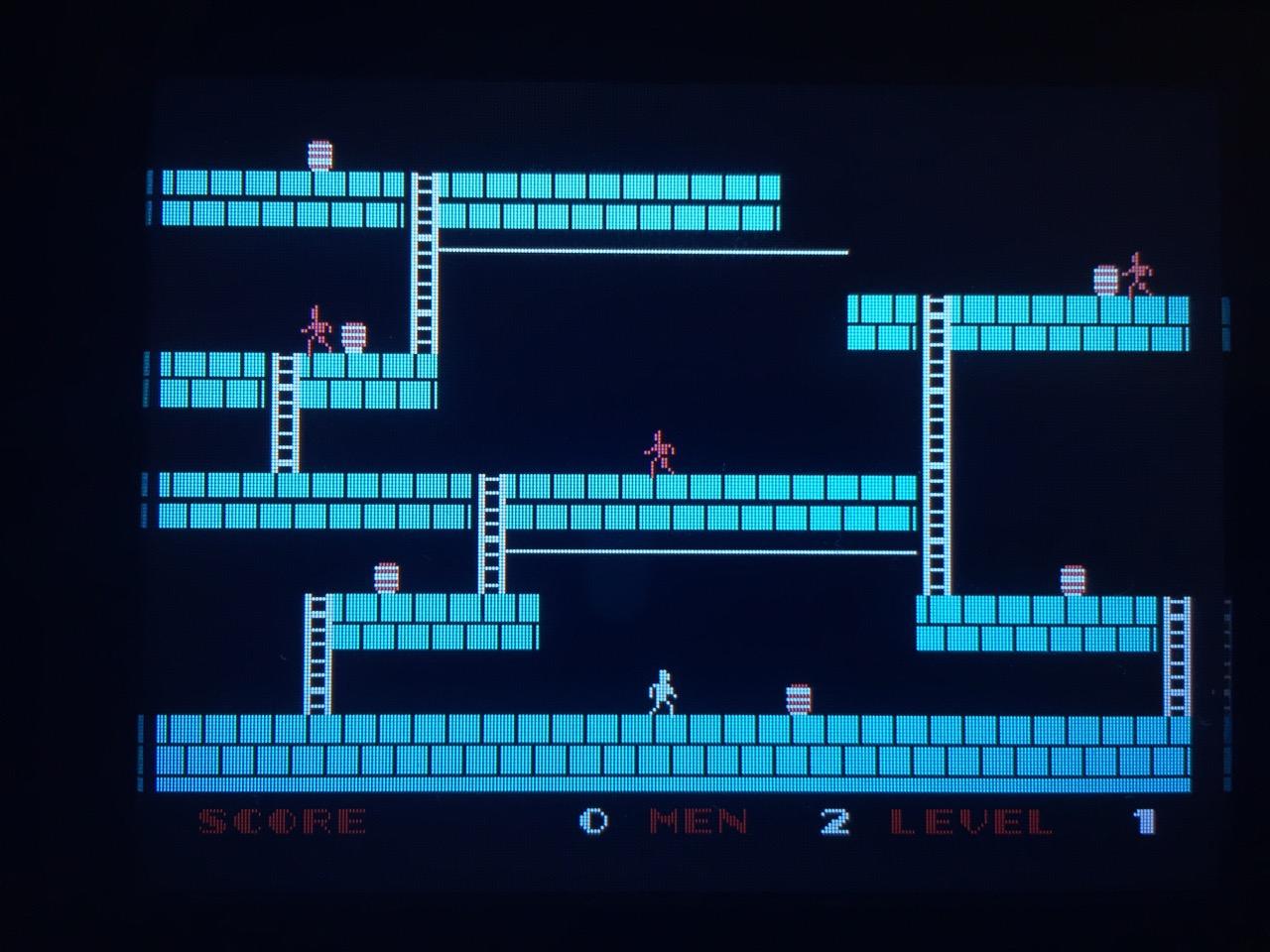 Screenshot von Lode Runner auf dem Game Gear mit LCD Mod. (Bild: André Eymann)