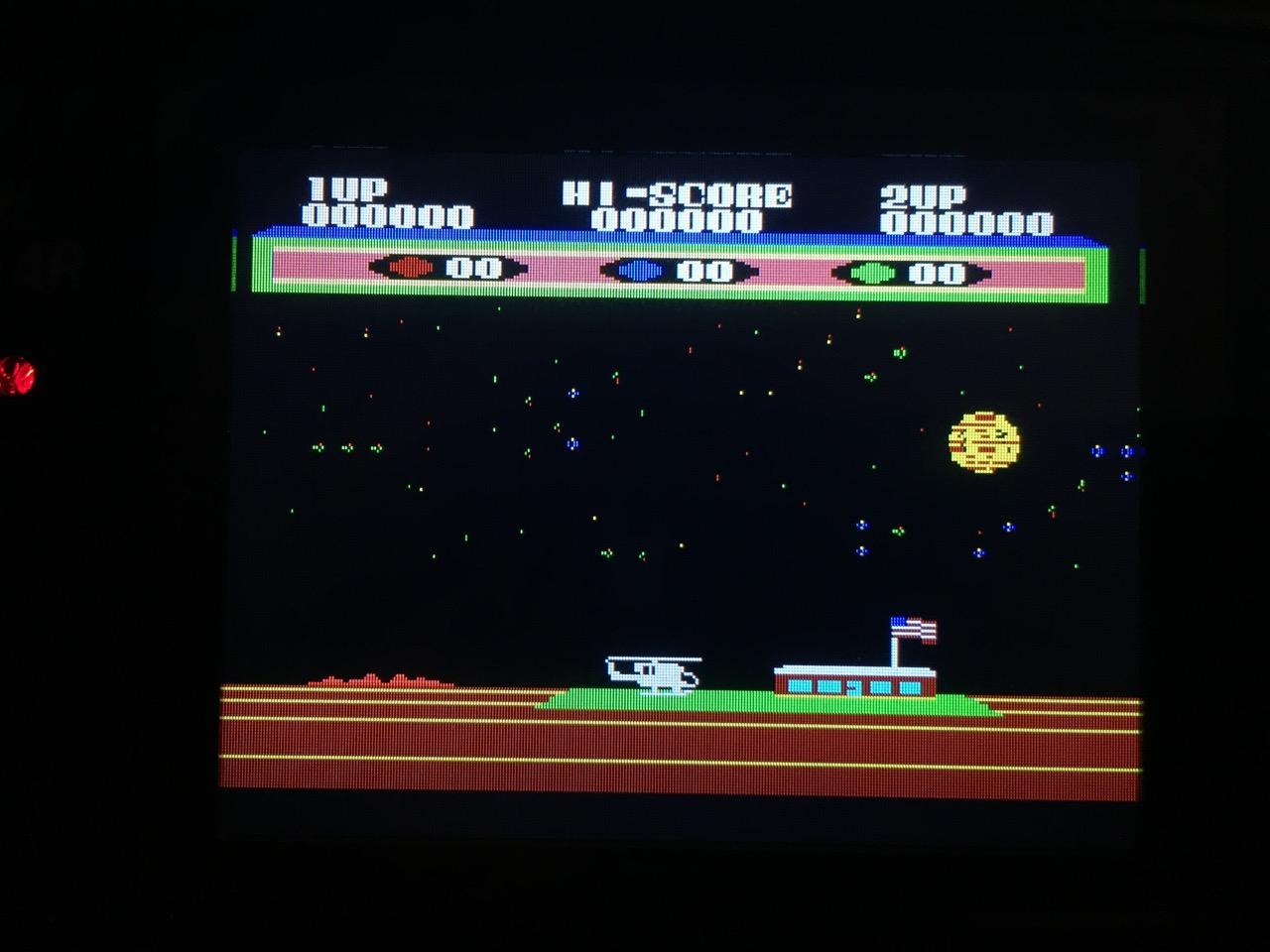 Screenshot von Choplifter auf dem Game Gear mit LCD Mod. (Bild: André Eymann)