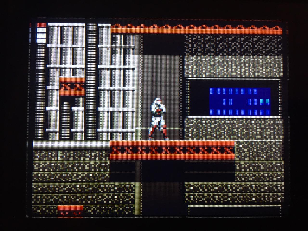 Screenshot von Shinobi II - The Silent Fury auf dem Game Gear mit LCD Mod. (Bild: André Eymann)