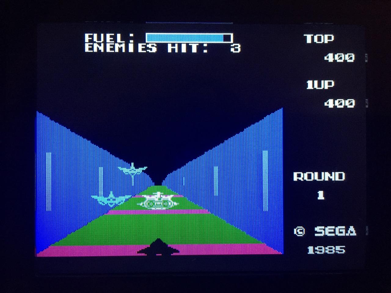 Screenshot von Zoom 909 auf dem Game Gear mit LCD Mod. (Bild: André Eymann)