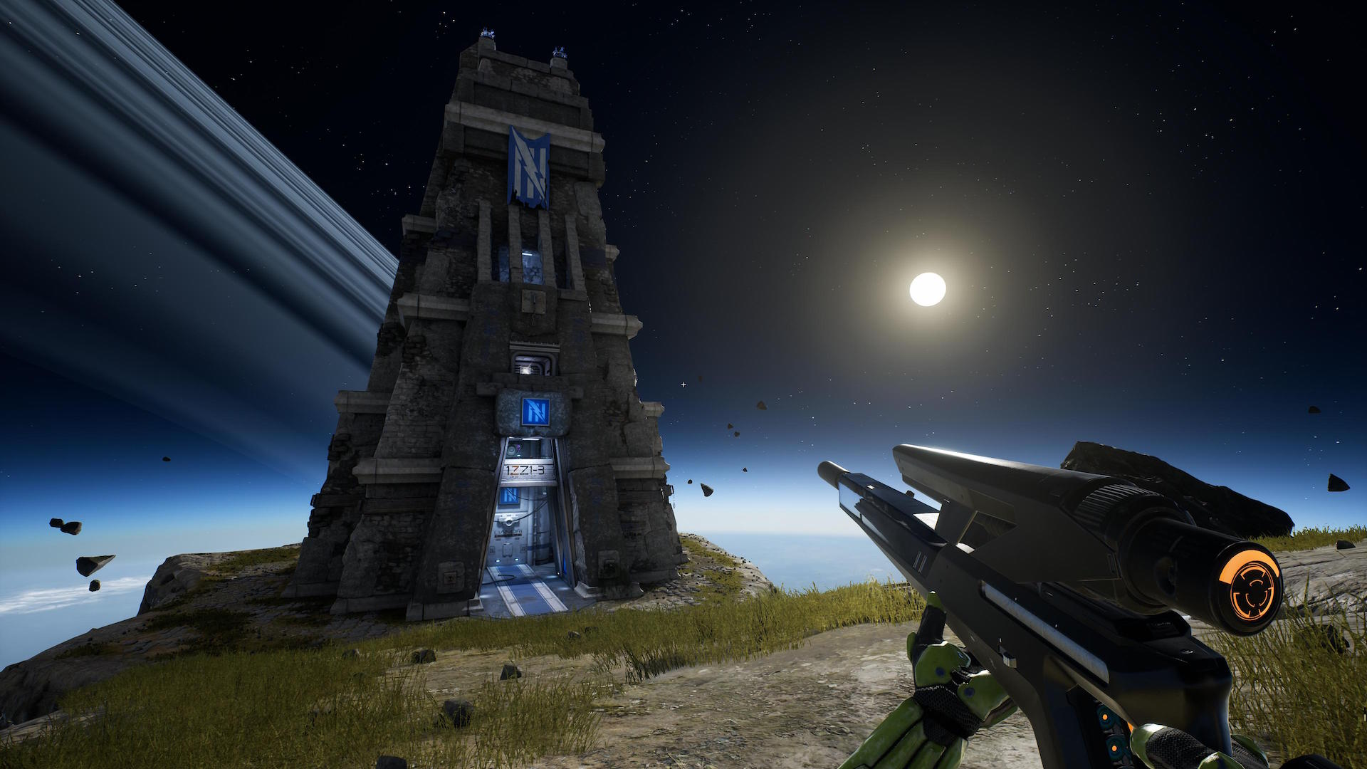 Unreal Tournament verlegt die Schauplätze in den Kosmos, fantasievolle Burgen oder Fantasiewelten. (Bild: Epic)